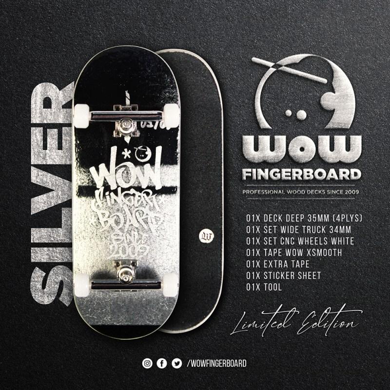 Wow Fingerboard Limited Edition - Retrô Silver