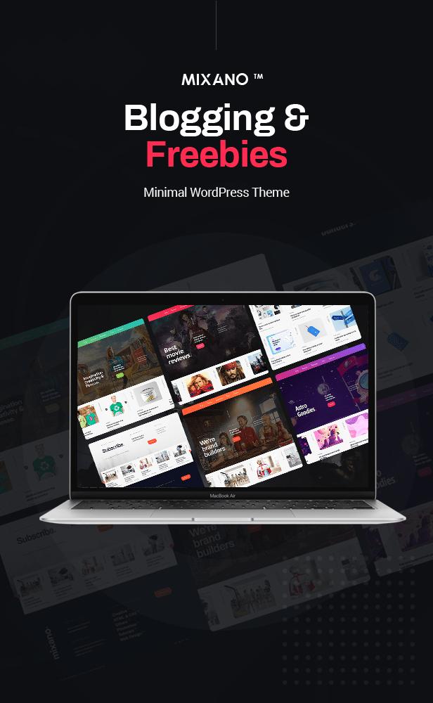 Mixano - Minimal WordPress Theme for Freebies & Blogging - 1