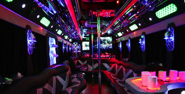 25 Passenger Party Bus Interior Photo