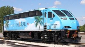 TriRail train in ft lauderdale