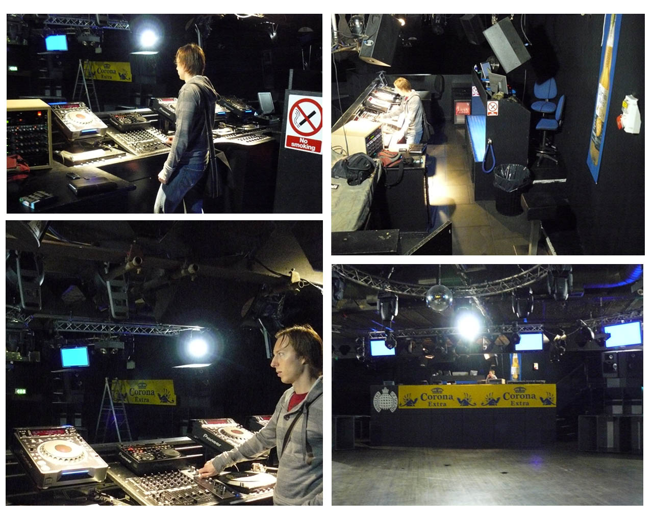 Photos taken of the Ministry of Sound DJ Booth during my Recce