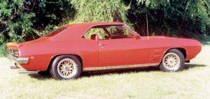 Red 1969 Pontiac Firebird