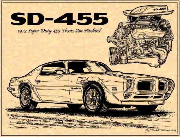 1973 Pontiac Trans Am SD 455 Engine