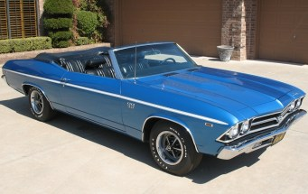 A Blue 1969 Chevelle SS 396 convertible