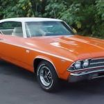 1969 Chevelle SS 396 Orange White
