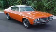 Orange and White 1969 Chevelle SS 396