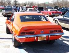 1969 Camaro SS Orange Rear