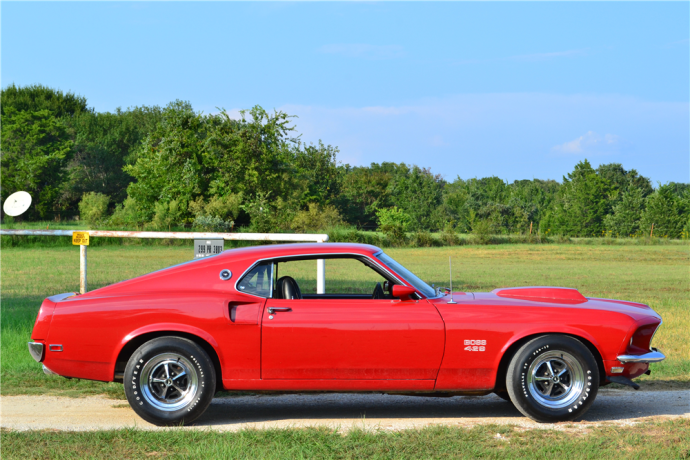 1969 Ford Mustang Boss 429 Fastback Side Red