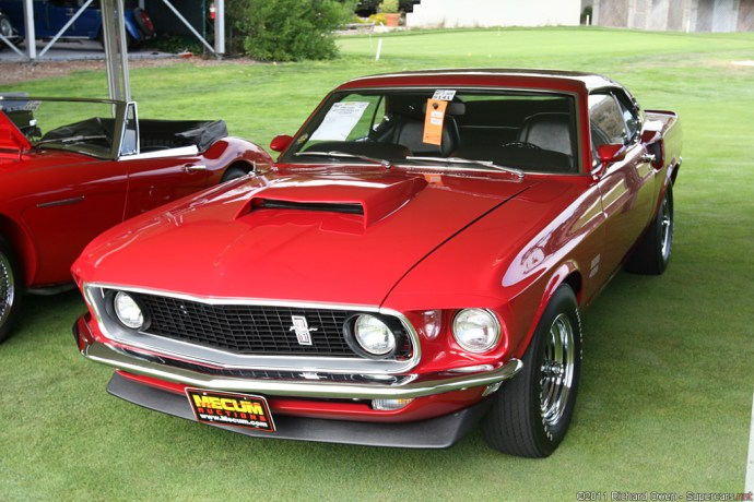 Red 1969 Ford Mustang Boss 429 Fastback