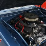 Blue 1969 Plymouth Barracuda Engine Bay