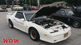 White 1989 Pontiac Trans Am Turbo Indianapolis 500 pace cars