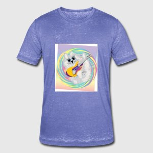 kittywithguitar4 Acid Wash T-Shirt