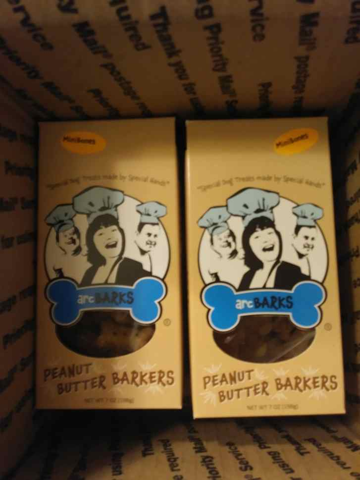Two packages of Peanut Butter Barkers