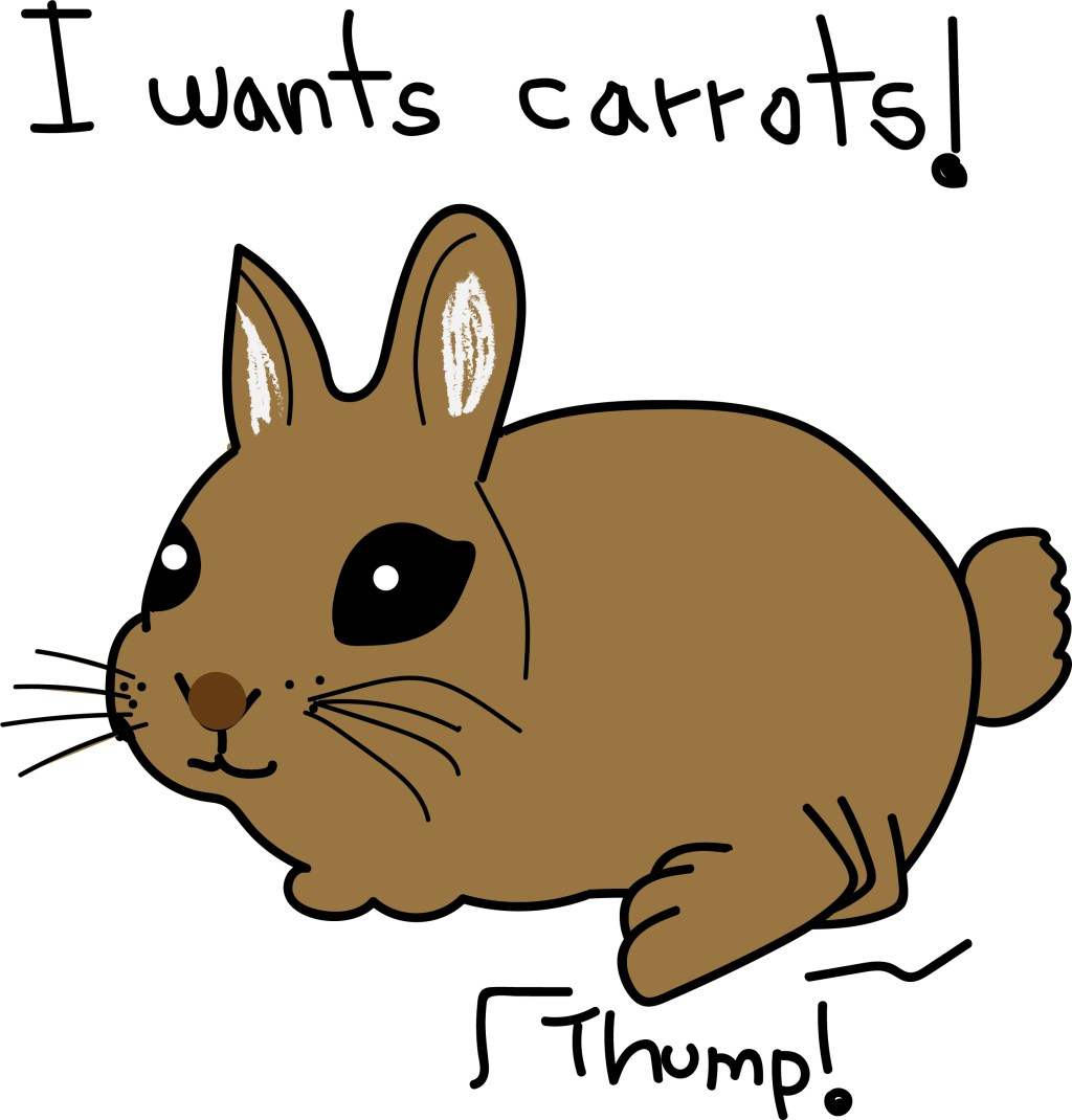 thumping bunny graphic