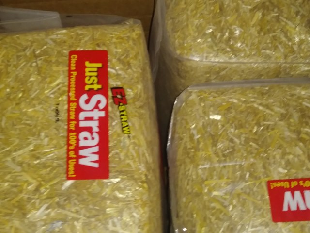 bagged Just Straw bales