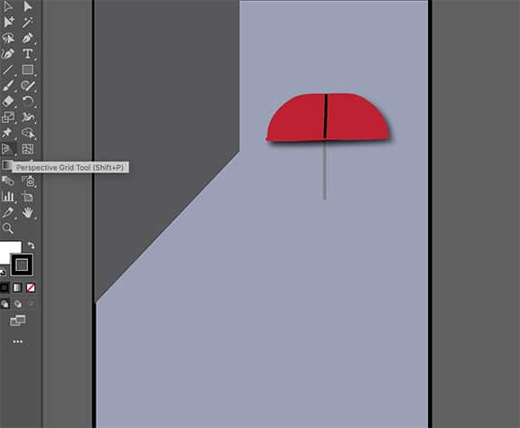 umbrella created in Adobe Illustrator