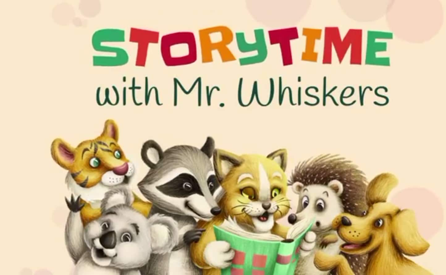 Storytime with Mr. Whiskers graphic