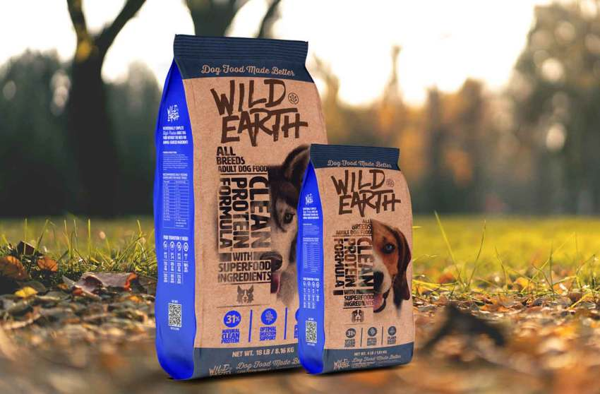bags of Wild Earth dog food