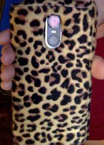 faux leapoard cellphone case