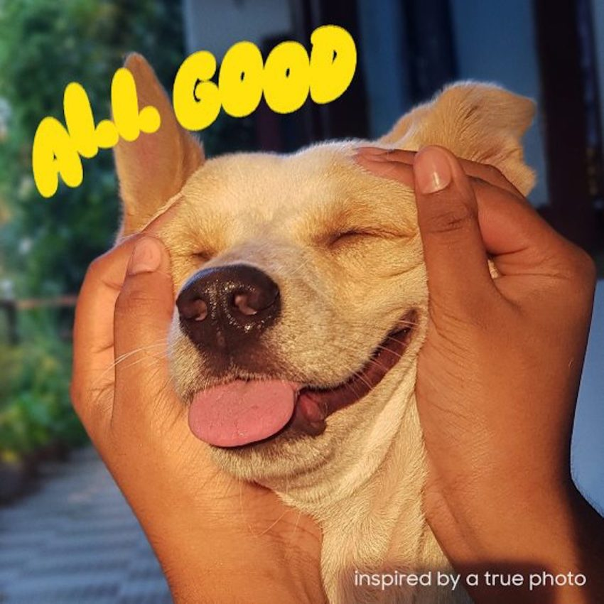 All Good Artwork with dog