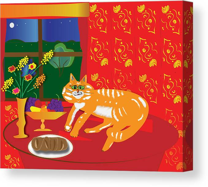 Orange cat digital art