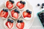 Red White & Blue Cheesecake Bites | http://www.skinnytaste.com/2012/05/red-white-and-blueberry-cheesecake.html