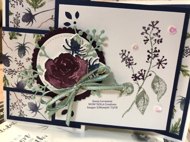 Susan Levasseur, WOW NOLA Creations, First Frost Birthday Card, Fancy Fold