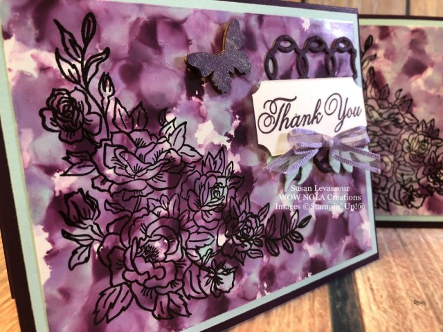 Susan Levasseur, WOW NOLA Creations, Polished Stone Technique, Climbing Roses, Stampin' Up!