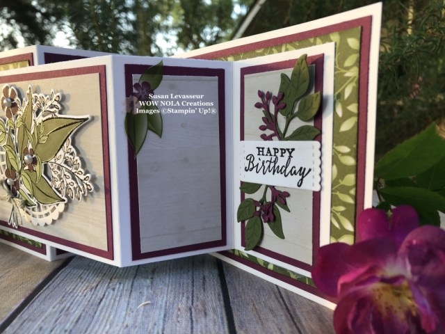 Susan Levasseur, WOW NOLA Creations, Easy Fun Fold, Double Z, Stampin' Up!