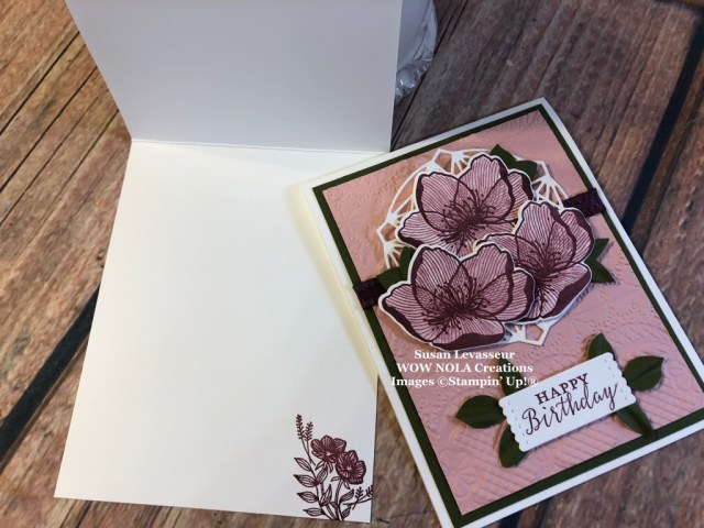 Susan Levasseur, WOW NOLA Creations, Beautiful Promenade, Stampin' Up!