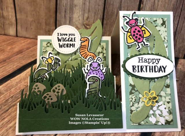 Wiggle Worm Side Step, Susan Levasseur, WOW NOLA Creations, Stampin' Up!
