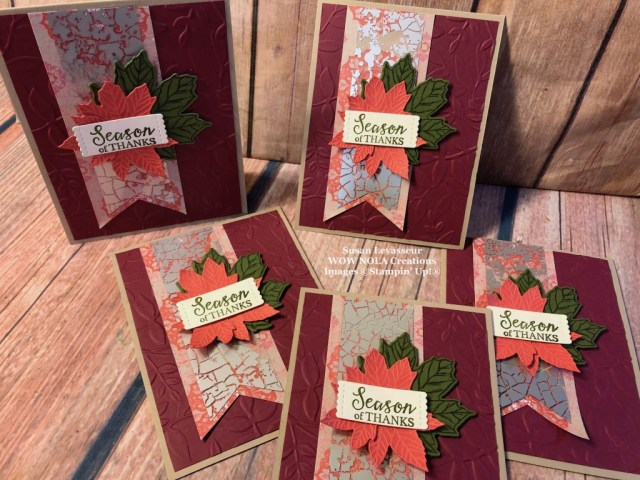Customer Thank You Cards, Susan Levasseur, WOW NOLA Creations, Stampin' Up!