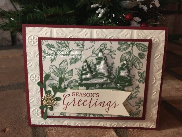Still Scenes Christmas Card, Susan Levasseur, WOW NOLA Creations, Stampin' Up!