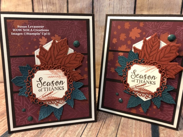 WOW Card Sketch #1, Gather Together, Susan Levasseur, WOW NOLA Creations, Stampin' Up!