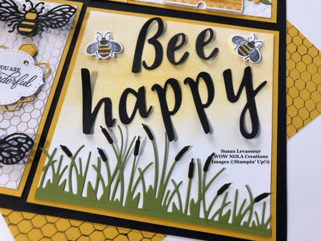 Bee Happy Sampler, Susan Levasseur, WOW NOLA Creations, Stampin' Up!
