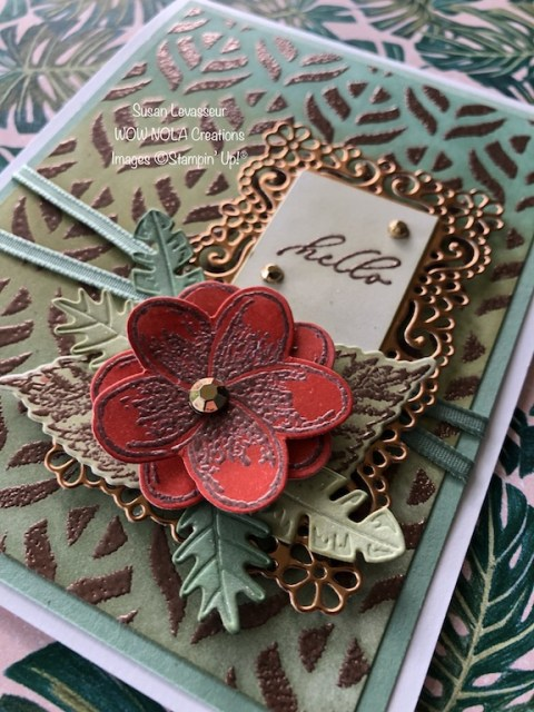 Stencil Embossing, Susan Levasseur, WOW NOLA Creations, Stampin' Up!