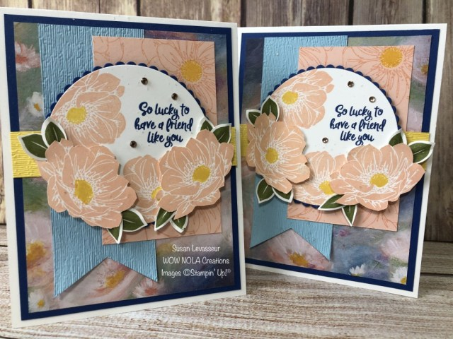 Floral Essence Friendship Card, Susan Levasseur, WOW NOLA Creations, Stampin' Up!