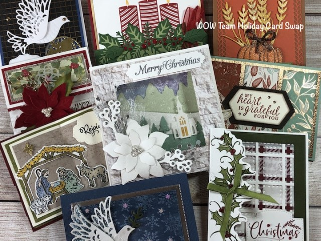 WOW Team Holiday Card Swap, Susan Levasseur, WOW NOLA Creations, Stampin' Up!