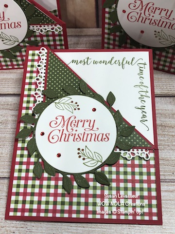 Festive Corners Flip Fold, Susan Levasseur, WOW NOLA Creations, Stampin' Up!