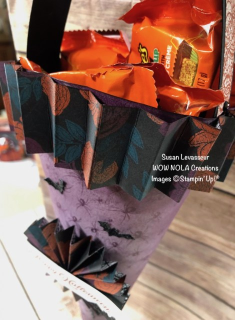 Halloween Candy Cone, Susan Levasseur, WOW NOLA Creations, Stampin' Up!