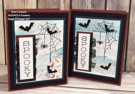Spooky Festive Corners, Susan Levasseur, WOW NOLA Creations, Stampin' Up!