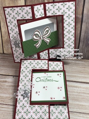 Swing Fold Gift Card Holder, Susan Levasseur, WOW NOLA Creations, Stampin' Up!