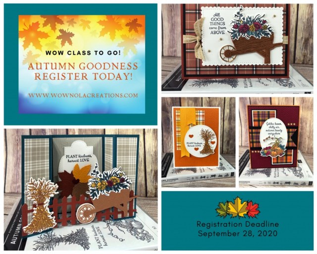 WOW Class to GO! Autumn Goodness, Susan Levasseur, WOW NOLA Creations, Stampin' Up!