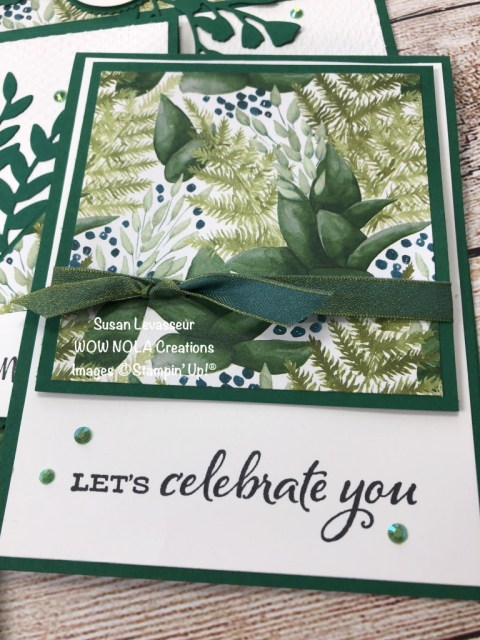 Forever Greenery, One Sheet Wonder, Susan Levasseur, WOW NOLA Creations, Stampin' Up!
