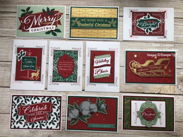 Wonder of the Season Christmas Cards, Susan Levasseur, WOW NOLA Creations, Stampin' Up!