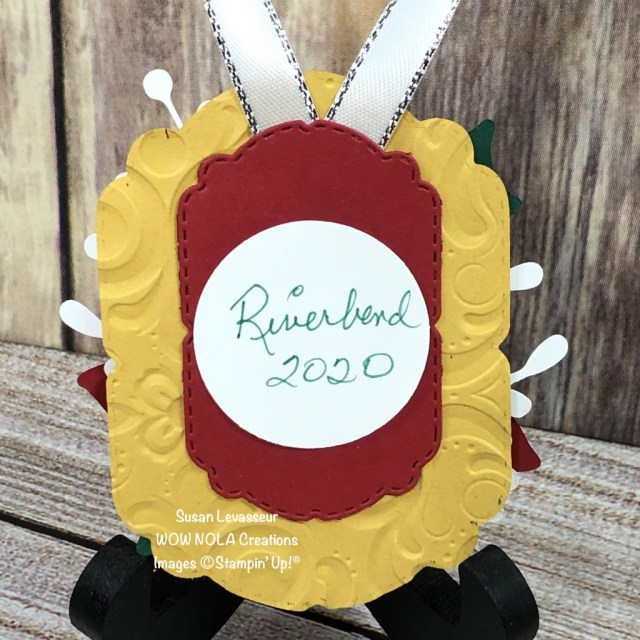 Poinsettia Christmas Ornament, Riverbend Nursing Home, Susan Levasseur, WOW NOLA Creations, Stampin' Up!