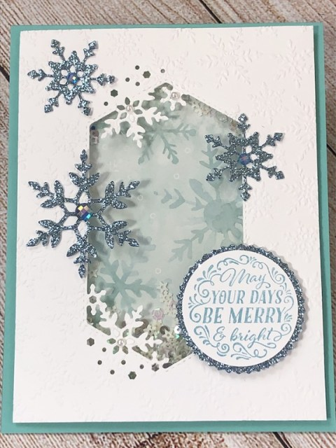 Snowflake Shaker, Snowflake Wishes, Susan Levasseur, WOW NOLA Creations, Stampin' Up!