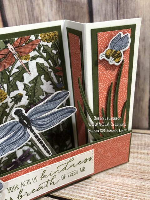 Garden Wishes Bridge Fold, Susan Levasseur, WOW NOLA Creations, Stampin' Up!
