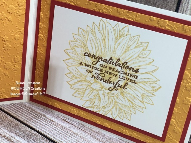 Celebrate Sunflowers Collaboration, Susan Levasseur, WOW NOLA Creations, Stampin' Up!
