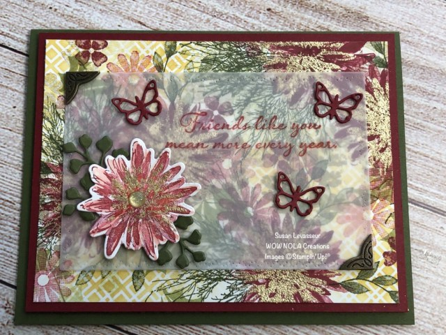 Positive Thoughts Collaboration, Susan Levasseur, WOW NOLA Creations, Stampin' Up!